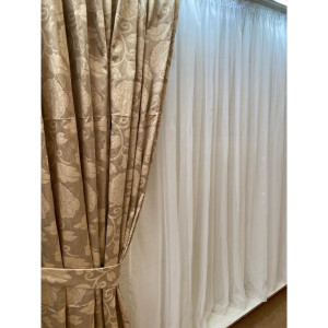 Set 2 bucati draperii-Bej,145cmx245H(2 pcs)