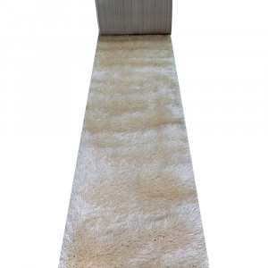 Traversa Shaggy din matase, inaltime fir 6 cm - crem (latime 60 cm)