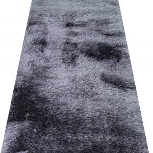 Traversa Shaggy din matase, inaltime fir 6 cm - gri (latime 80 cm)